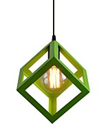 1 Head Vintage Metal Cage Shade Pendant Lights Country Style Mini Chandelier for Bars Kitchen Dining Room Light Fixture
