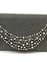 Women Evening Bag Metal All Seasons Event/Party Cuboid Magnetic Silver Black Gold