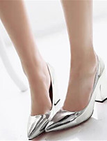 Women's Shoes PU Spring Comfort Heels For Casual Gold Silver