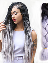 41 Colours Jumbo Braids Bulk Synthetic Hair 24'' 100g African Braiding Hair Style Crochet Hair Extensions 1Packs
