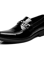 Men's Loafers & Slip-Ons Comfort Spring Summer Fall Winter Leather Patent Leather Wedding Casual Party & Evening Low Heel Black Ruby