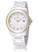 Муж. Жен. Модные часы Кварцевый Керамика Группа Повседневная Элегантные часы Белый