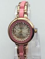 Жен. Часы-браслет Китайский Кварцевый сплав Группа Блестящие Повседневная Розовое золото