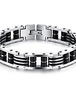 Homme Chaînes & Bracelets Zircon cubique Mode Style Punk Hip-Hop Pierre Gothique Zircon Acier au titane Plaqué or Forme de Cercle Forme