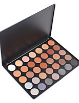 35C Eyeshadow Makeup Palette 35 Color Waterproof Warm Neutrals Smooth Smoky Shadow Professional Make Up Set Kit