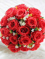 18 Heads High Quality Roses Flowers Silk Flower Artificial Flowers for home Decoration Flower KitBlue