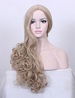 Movie Cinderella Cosplay Golden Wig Lily James Gold wig Princess Role Play hair Costumes