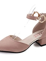 Women's Flats Comfort Summer Cashmere Walking Shoes Casual Flat Heel Black Blushing Pink 2in-2 3/4in