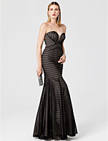 Mermaid / Trumpet Sweetheart Floor Length Jersey Formal Evening Dress with Pleats by TS Couture®