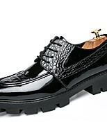 Men's Shoes Patent Leather Spring Summer Fall Winter Formal Shoes Oxfords For Casual Party & Evening Office & Career Black
