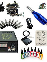 Basekey High Born Tattoo Kit H015-Z6 1 Machine With 7 Inks Power Supply 10PCS Needles