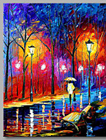 Dipinta a mano Paesaggi Verticale,Artistico Amanti Ufficio Capodanno Natale Un Pannello Tela Hang-Dipinto ad olio For Decorazioni per la