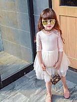 Girl's Geometric Dress,Others Long Sleeve