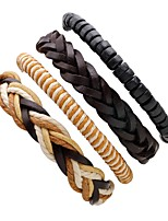Men's Leather Bracelet Personalized Rock Leather Line Irregular Jewelry For Stage Street