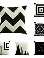 6 штук Хлопок/Лён геометрический Новинки Мода Геометрия Ретро Неоклассицизм Cool Новое поступление Высокое качество Modern