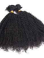 Wholesale Bulk Hair Human Indian Remy Hair Black Color Afro Curly Bulk Human Hair For Braiding