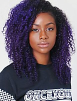 New Arrival Synthetic Wigs Kinky Curly Hair Purple Ombre Wig Heat Resistant Fiber Hair for Woman