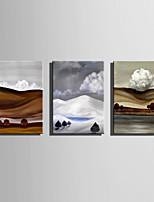 Dipinta a mano Paesaggi Verticale,Astratto Tre Pannelli Tela Hang-Dipinto ad olio For Decorazioni per la casa
