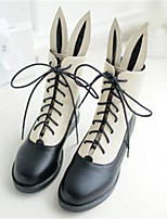 Women's Shoes Nubuck leather PU Fall Comfort Boots For Casual Black Beige