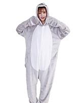Kigurumi Pajamas Cartoon Festival/Holiday Animal Sea Lions Sleepwear Halloween Fashion Embroidered Flannel Fabric Cosplay Costumes Kigurumi For