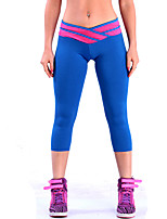 Yoga Crop Fast Dry Wearable High Elasticity Breathability High Elasticity Sports Wear Women'sYoga Running/Jogging Pilates Exercise