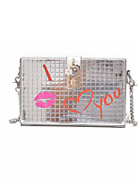 Unisex Bags All Seasons PU Shoulder Bag with for Casual Black Silver Blushing Pink