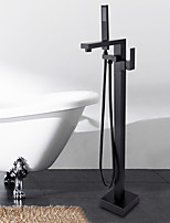 Floor Mounted Ceramic Valve Oil-rubbed Bronze , Bathtub Faucet