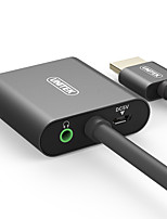 Unitek HDMI 1.4 Adaptador, HDMI 1.4 to VGA Audio jack de 3.5mm Micro USB 2.0 Adaptador Macho - Hembra Cobre dorado 0,15 m (0,5 pies)