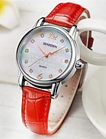 Women's Fashion Watch Quartz Water Resistant / Water Proof PU Band Red