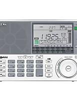 ATS-909X Rádio portátil Radio FM Alto Falante Embutido Relogio Despertador Branco