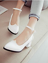 Women's Shoes PU Spring Comfort Heels For Casual White Black Purple