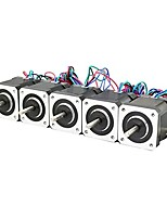 Impressora 3d nema 17 motor passo a passo parafuso linear máquina de gravação de 2 fases da impressora 3d (pacote de 5pcs)