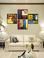 Canvas Print Abstract,Four Panels Canvas Square Print Wall Decor For Home Decoration