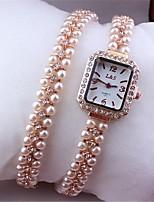 Femme Montre Tendance Bracelet de Montre Quartz Métallique Bande Or Rose