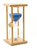 POSCN 45 Minutes Durable Glass  Hourglasses Crude Wood Sand Timer for Time Management LP9007-0004