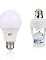 7W Lâmpada Redonda LED 14 SMD 2835 600-700 lm Branco Quente Branco Decorativa Sensor do corpo humano V 1Set E27