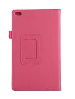 Para la cubierta del caso con el soporte flip el caso completo del cuerpo cuero sólido de la PU del color sólido para lenovo tab4tb-8504f