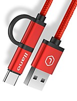 USB 2.0 Câble, USB 2.0 to USB 2.0 Type C Micro USB 2.0 Câble Male - Male 1.2m (4ft)