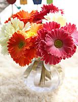 1 Une succursale Plastique Marguerites Fleur de Table Fleurs artificielles