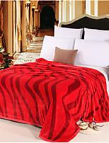 Super Soft Stripe Polyester Blankets