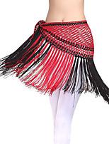 Dança do Ventre Lenços de Quadril para Dança do Ventre Mulheres Apresentação Seda 1 Peça Xale de Dança do Ventre