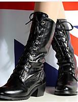 Для женщин Обувь Полиуретан Осень Удобная обувь Ботинки Назначение Повседневные Белый Черный