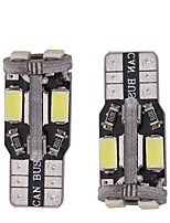 2PCS 3W white DC12v T10 10led 5730SMD CANBUS LED Auto Lamps Car Instrument Light Decorative Lamp Reading Light License Plate Light Door Lamp