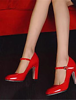 Women's Shoes Patent Leather Spring Summer Comfort Heels For Casual White Red