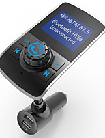 Wireless In-Car Bluetooth FM Transmitter 5V/3.1A Dual USB Car Charger AUX Input 1.44 Inch Display TF Card Slot