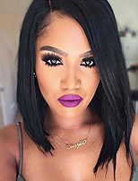 Short Bob Lace Front Human Hair Wigs Straight with Baby Hair 100% Unprocessed Peruvian Virgin Hair Bob Lace Wig for Woman
