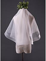 Wedding Veil One-tier Fingertip Veils Pencil Edge Tulle