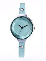 Mujer Reloj de Vestir Reloj de Moda Reloj de Pulsera Chino Cuarzo PU Banda Cosecha Casual Elegantes Negro Blanco Azul Rojo Verde Color