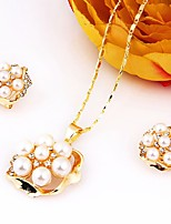 Women's Pendant Necklaces Necklace Fashion Classic Imitation Pearl Rhinestone Gold Plated For Wedding Birthday Gift Daily Office & Career