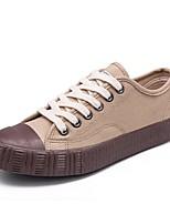 Women's Sneakers Light Soles Spring Summer Fall Winter Canvas Casual Outdoor Office & Career Draped Flat Heel Khaki Black White Flat